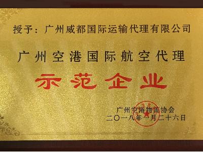 威都物流-广州空港国际航空代理示范企业