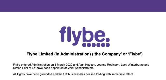 英国廉价航空公司Flybe