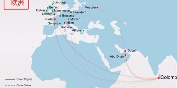 斯里兰卡航空欧洲航线