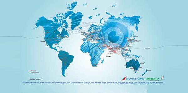 斯里兰卡航空航线